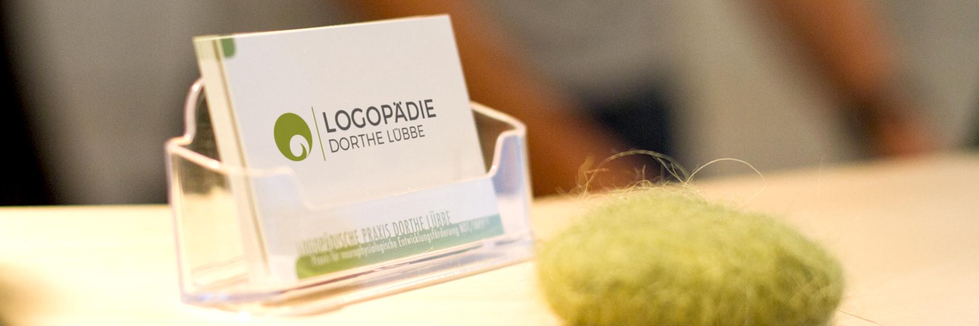 Visitenkarte der Praxis für Logopädie Münster - Mecklenbeck